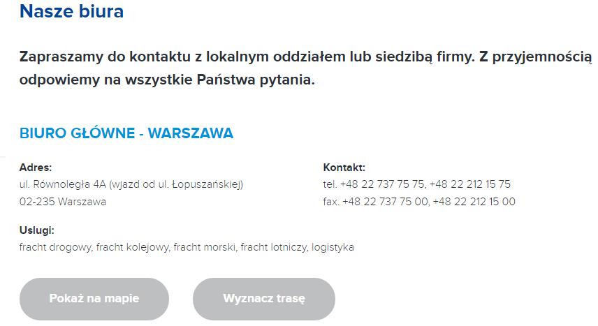 TRANSPORT MORSKI ŁADUNKÓW POLSKA DANIA
